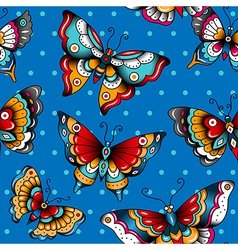 pattern butterflies vector image