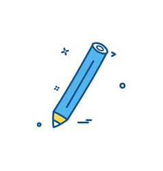 pencil pen icon design vector image