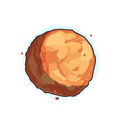 planet cartoon icon vector image