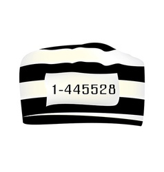 Prisoner cap with number vector