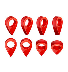 realistic map pointers various symbols for gps vector image