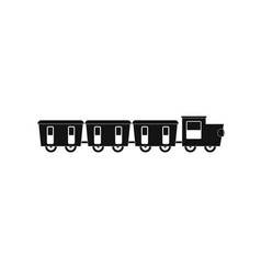 Reserved carriages icon simple style vector