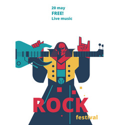 Rock music festival poster for vector