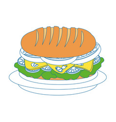 Sandwich food vector