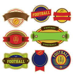 set colorful football labels and badges vector image