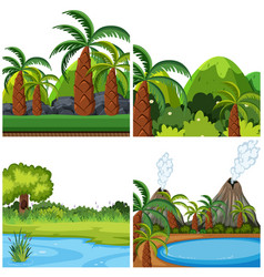 set nature background vector image