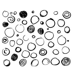 Set scribble circles vector