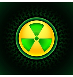 Sign of radiation green vector
