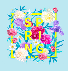 spring collections background vector image
