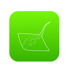 stingray icon green vector image