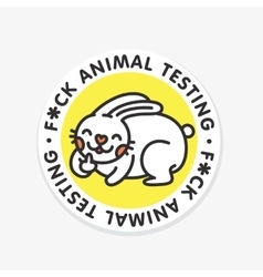 Stop animal testing sticker vector