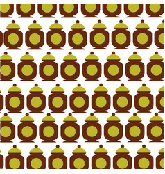 Sugar pot pattern background vector