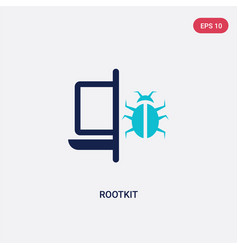 two color rootkit icon from cyber concept vector image
