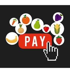 Vegetable market vector