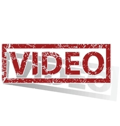 VIDEO outlined stamp vector