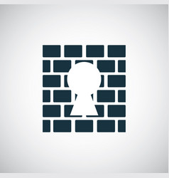 wall lock icon for web and ui on white background vector image