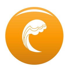 wave water ocean icon orange vector image