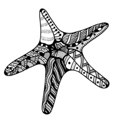 Zentangle starfish vector