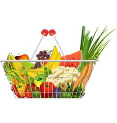 Diet basket vector image vector image