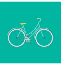 flat modern bicycle vector image vector image
