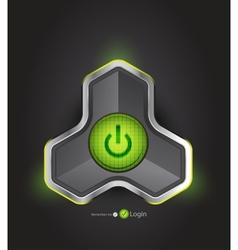 futuristic power button vector image vector image