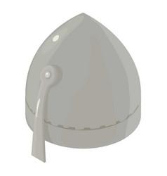 helmet knight warrior icon isometric 3d style vector image vector image