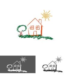home house logoicon vector image vector image