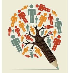 Man sign concept pencil tree vector image