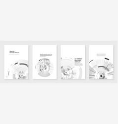 minimal brochure templates vector image