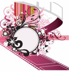 movie frame vector image vector image
