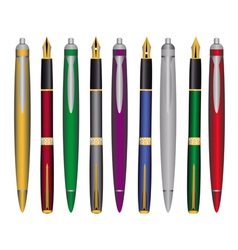 pen and ink pens vector image vector image