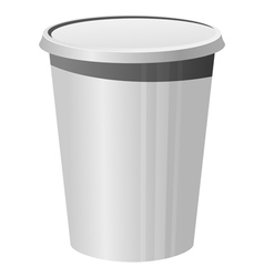 plastic cup vector image