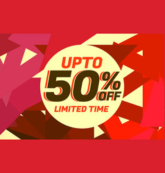 abstract sale discount voucher design with warm vector image vector image