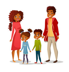 afro american family vector image