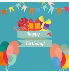 Happy birthday in style flat vector image vector image