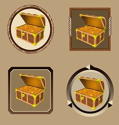 icons pirate chest vector image
