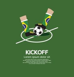 Kick Off vector image