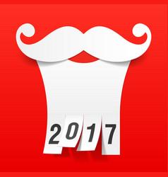 santa beard with tear off tabs vector image