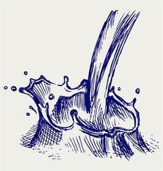 Splash of milk vector image