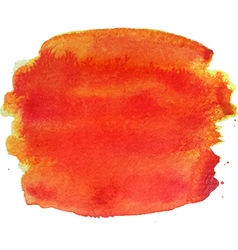 Abstract watercolor hand paint orange texture vector image