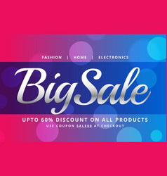 beautiful sale banner poster design template with vector image vector image