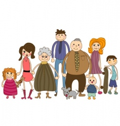 family portrait vector image vector image