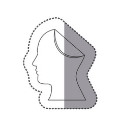 Figure papper human icon vector