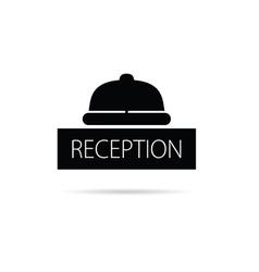 Reception bell icon vector