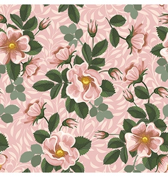 Seamless rose wallpaper vector image vector image