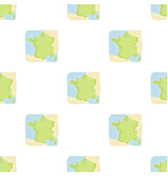 Territory of france icon in cartoon style isolated vector