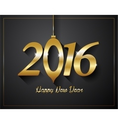 2016 Happy New Year golden letters Flyers covers vector image