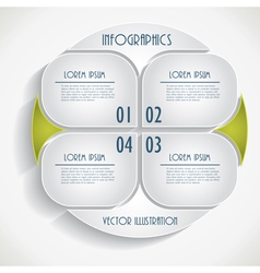 Abstract infographic Business template vector image