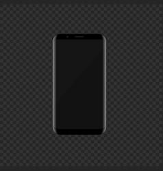 black smartphone with modern design vector image