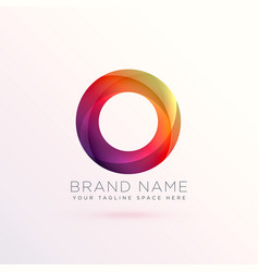 colroful abstract circle logo design template vector image vector image